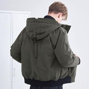 Image 4 - Pioneer camp novos homens jaqueta de inverno marca roupas moda grosso quente casaco masculino de alta qualidade parka masculino preto verde amf801453