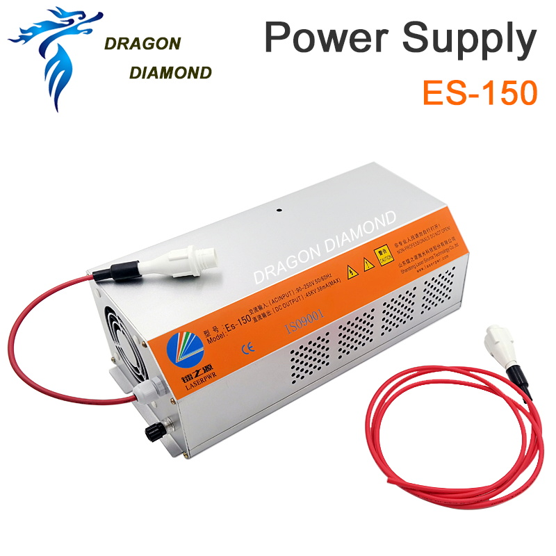 ES150 CO2 Laser Machine Power Supply For 150W Laser Tube CO2 Laser Cutting And Engraving Machine