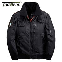 TACVASEN Men Bomber Jacket Thick Winter Parkas Army Military Motorcycle Jackets Men S Pilot Coat Flight