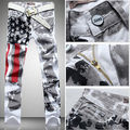 2016 Fashion hot mens designer jeans men robin jeans famous brand robin jeans denim with wings american flag jeans plus size