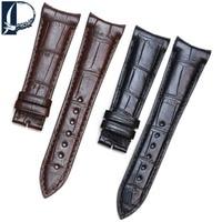 Pesno مناسبة ل FC فريدريك كونستانت الكلاسيكية جلد طبيعي حزام التمساح الجلد جلد حزام (استيك) ساعة معصمه 23mm