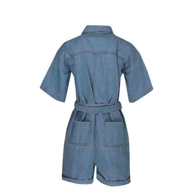 Vrouwen Casual Zomer Denim Romper Hoge Taille Katoen Mode Jeans Overalls Pocket Shorts Bf Dames Jumpsuit Playsuit Bodysuits
