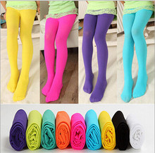 Summer Girl Silk Pantyhose Pure Colour Tights for Girls Rose Red Yellow Purple Sky Blue Black Green freeshipping(China)