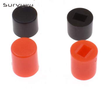 цена на 50PCS Tactile Push Button Switch 7X7/8X8mm Cap 6Pin Square Self-locking/no Lock DIP