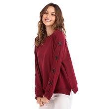 цена на FEIBUSHI  Tracksuits Casual Sweatshirt Autumn Black Round Neck Pullover 2018 Loose Fleece Thick Knit Sweatshirt Female