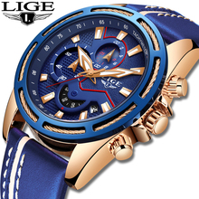 LIGE Watches Men Fashion Quartz Army Military Clock Men Watch Top Brand Luxury Leather Waterproof Sport Watch Relogio Masculino цена