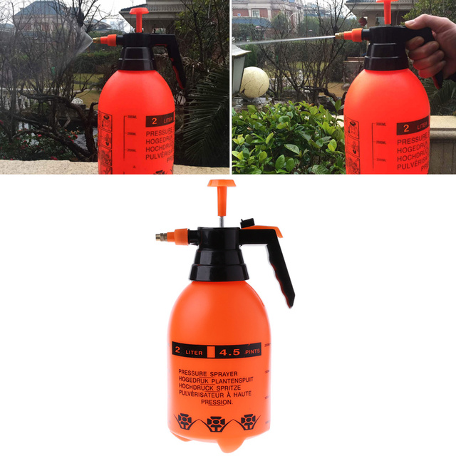 2.0L araba yıkama basınçlı sprey Pot otomatik temiz pompa püskürtücü şişe basınçlı sprey şişesi yüksek korozyon direnci
