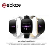 Zeblaze Crystal Curved 1.54 pulgadas IPS pantalla HD 3D Inteligente Reloj MTK2502 HRM ritmo cardíaco Bluetooth 4.0 Cuero Genuino Real correa