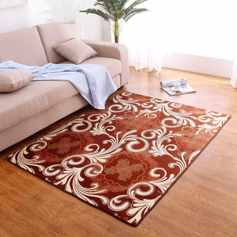 Новый цвет каменный коралловый бархат ковер прикроватный коврик для спальни журнальный столик для гостиной одеяло Нескользящий Впитывающий пол ковер 100x200 см