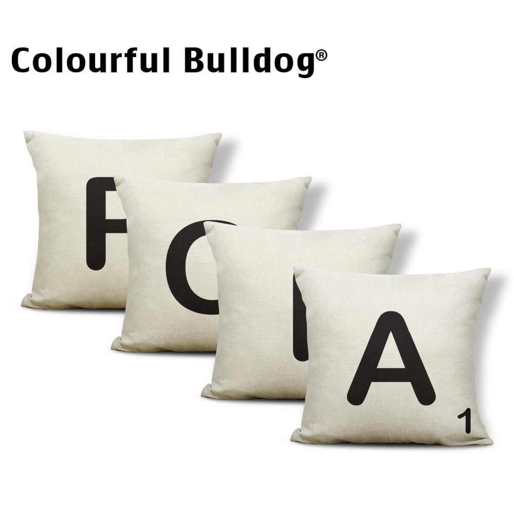 Подушка с монограммой, милый дом, наволочка, минималистичное кресло, украшение для дома, декоративные подушки, 17X17, полиэстер/хлопок, с принтом