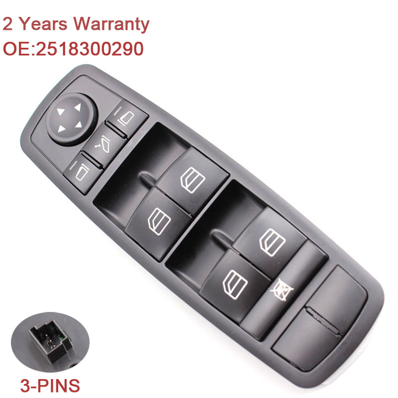 2518300290 Master Power Window Switch A2518300290 A 251 830 02 90 For Mercedes W164 GL320 GL350 GL450 ML320 ML350 ML450 ML500 R in Car Switches Relays from Automobiles Motorcycles