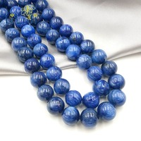 Lii Ji Unique Natural GEMS Kyanite 14mm Round Beads DIY Jewelry Making Necklace or Bracelet Approx 39cm