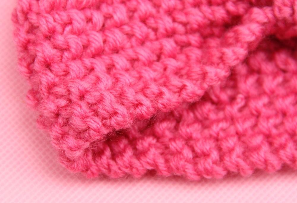 Baby Girl Knit Crochet Turban Headband