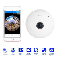 Oobest E27 100 40V AC Wifi Panoramic 360 Degree Camera Wireless Light Bulb Fisheye Camera Cctv