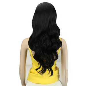 Image 4 - קסם שיער 26 Inch Ombre כהה אדום בלונד ארוך גלי פאות תחרה מול שיער סינטטי תחרת פאות עבור נשים שחורות חום עמיד שיער