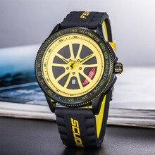 7f807678e6 Relógios 2019 dos homens de corrida Ferrari série correia de borracha  assistir Top marca De Luxo