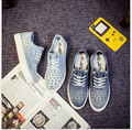 2017 весна Лето новая мода холст обувь студент случайные толстым дном комфорт плоские туфли синий