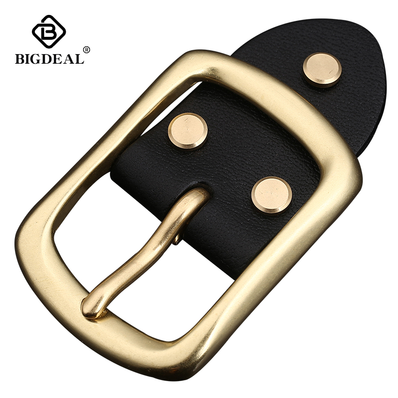 Retail Fashion Men Solid Brass Belt Buckle With Metal Cowboy Belt Head Jeans Accessories Cosplay For 4cm Wide Belt