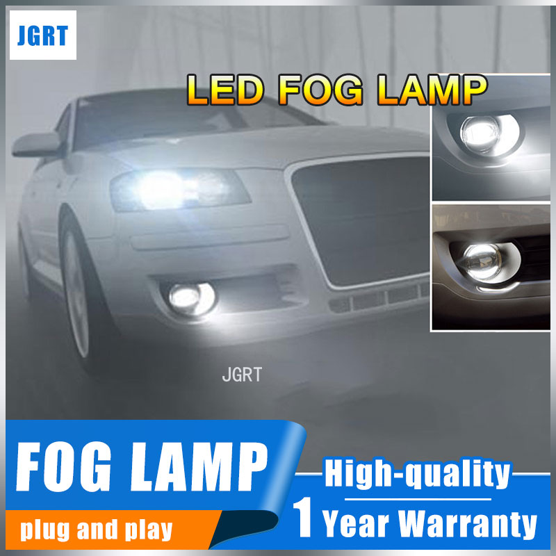 цена на JGRT 2008-2015 For Nissan Qashqai fog lights+LED DRL+turnsignal lights Car Styling LED Daytime Running Lights LED fog lamps