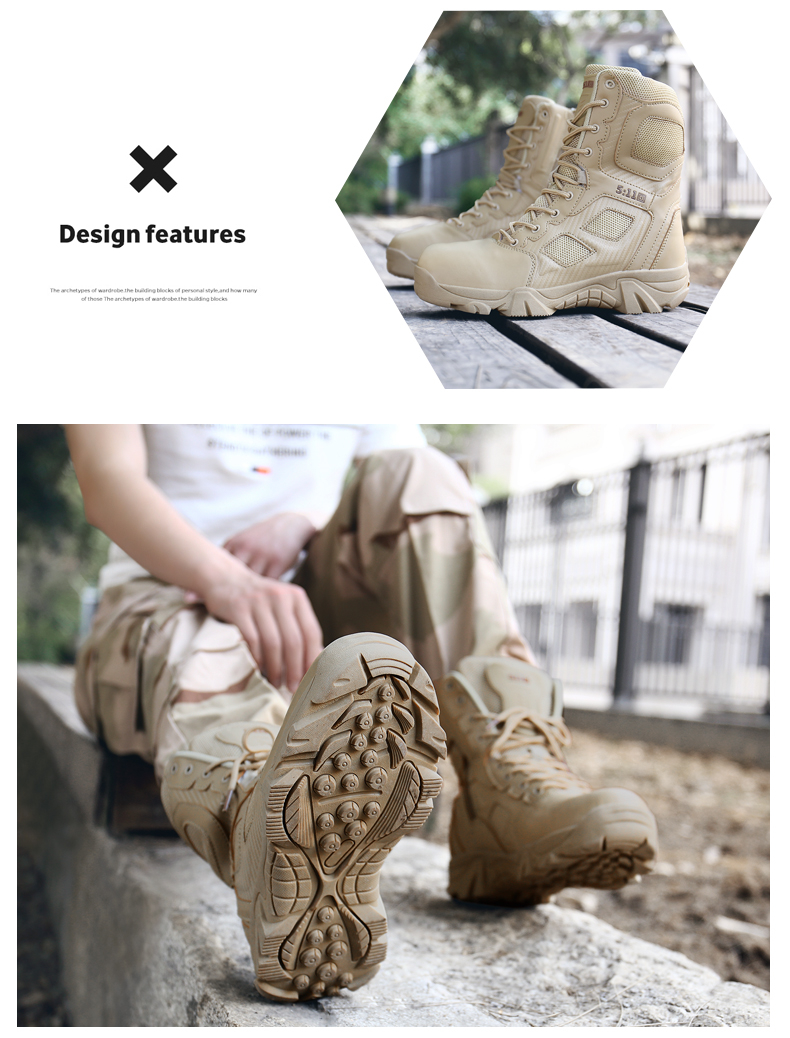 Brand Men\'s Boots Big Size Military boot Chukka Ankle Bot Tactical Army Male Shoes Safety Combat Mens Motocycle Boots (11)