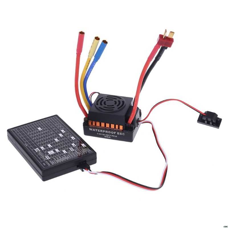 Brushless Motor 1/10,60A กันน้ำ ESC Electric Speed Controller สำหรับ RC รถ 25A-120A Brushless ESC