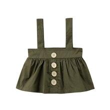 Милые юбки на лямках для маленьких девочек; Повседневная летняя новая милая мини-юбка на лямках для маленьких детей
