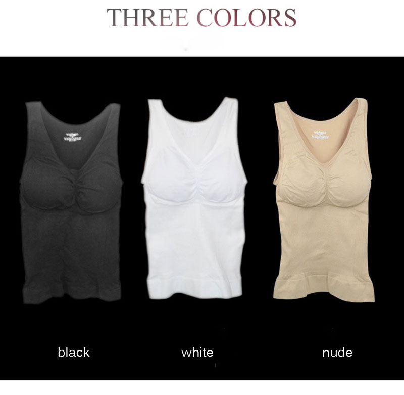 Body Shaper Slim Up Lift Plus Size Bra Cami Tank Tops Shapewear Removable Chest Support for Postpartum women Corset Dropship