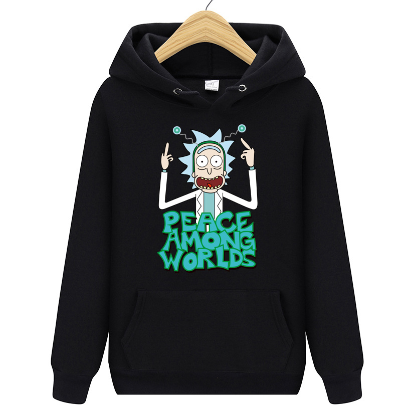 2019 Autumn New Design Rick And Morty Men's Hoodies Cotton Funny Print Hoodie Man Fashion Rick Morty Casual Sweatshirt SA-8