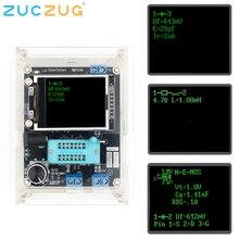 GM328 다용도 트랜지스터 테스터 DIY 키트 다이오드 커패시턴스 전압계 PWM 구형파 신호 발생기 + DIY 아크릴 케이스