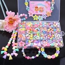 Kit pour faire des Bracelets perles jouets pour enfants bricolage 24 grille fabrication à la main Puzzles perles pour filles Kit filles jouets pour 3 5 7 9 11