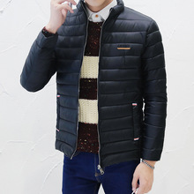 M-3XL! мужчины Марка Одежды Повседневная Сверхлегкий Мужские Утка Куртки Осень Зима Куртки Мужские Легкая Пуховая Куртка Мужчины Пальто