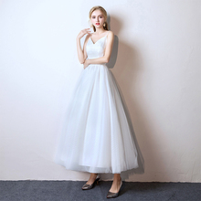 New Simple White Black Lace Wedding Dresses 2019 Beautiful Elegant Party Bridal Reflective Up
