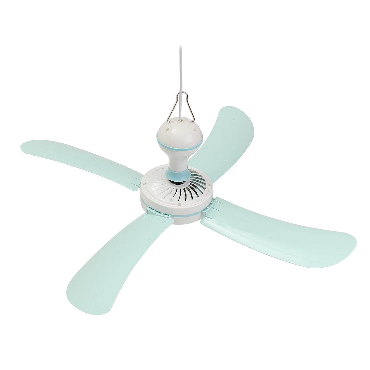 electric 23 portable 4 blade mini 220v ac ceiling fan easy hang no wiring needed [ 1200 x 1200 Pixel ]