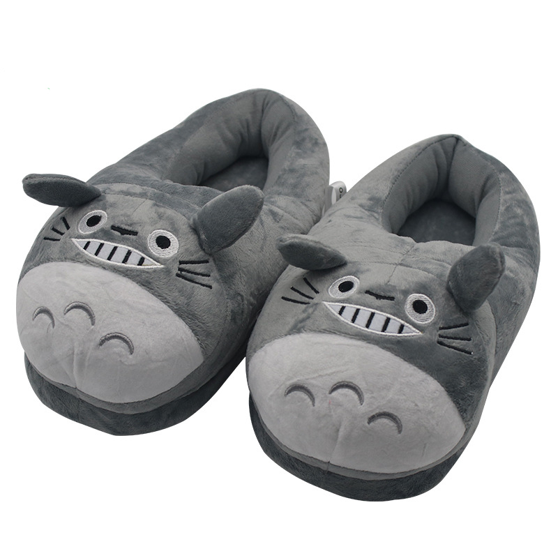 30996f7dd03 Winter New Stuffed Plush Totoro Slippers for Women Men Cartoon Totoro Shoes  Warm Thickened PP Cotton Home Indoor Slippers-in Slippers from Mother    Kids on ...