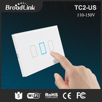Broadlink TC2 3 Gang Wireless Remote Control Wifi Wall Light Touch Switch 433MHZ 110V 150V US