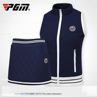 PGM autumn winter golf Sportswear ladies fleece thick warm golf Vest high elastic Windproof Women's Golf Sleeveless jacket vest