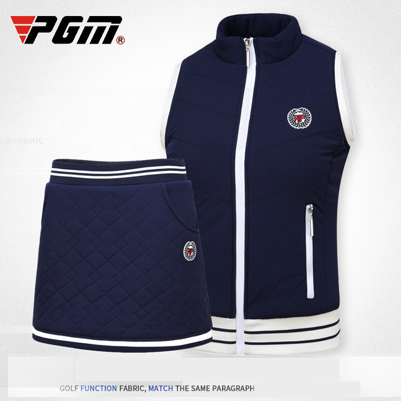 PGM autumn winter golf  Sportswear ladies fleece thick warm golf Vest high elastic Windproof Womens Golf Sleeveless jacket vestPGM autumn winter golf  Sportswear ladies fleece thick warm golf Vest high elastic Windproof Womens Golf Sleeveless jacket vest