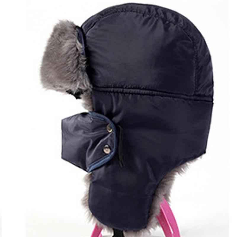 AETRUE Men/Women Balaclava Fur Bomber Hats