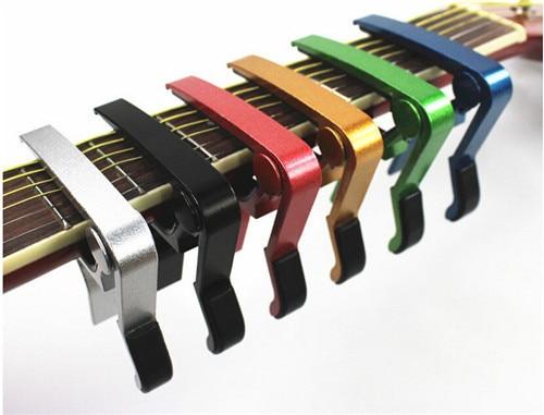 High Quality Acoustic Classic Guitar Picks Capo For Tone Adjusting Aluminium Alloy New Guitar Tuner Quick Change Clamp Key