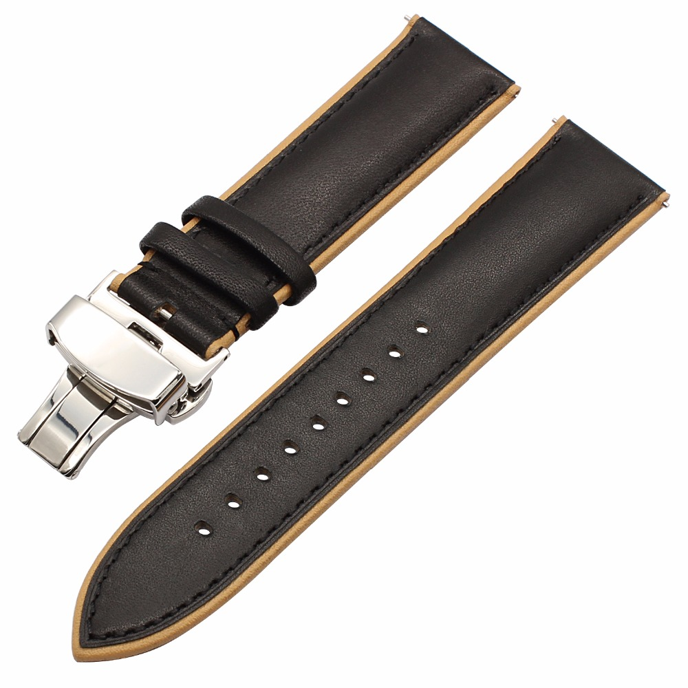 France Genuine Leather Watch Band Double Color for Samsung Gear S3 Classic Frontier Gear 2 Neo Live Quick Release Wrist Strap
