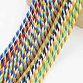 Mix Colors 10Meters 3 Shares Twisted Cotton Cords 5mm DIY Craft Decor Ropes Cotton Cord for Bracelet Gift Packing Belt Hat CD26