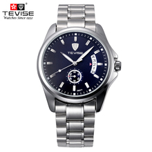 TEVISE Man Mechanical Self Wind Watch Silver Stainless Steel