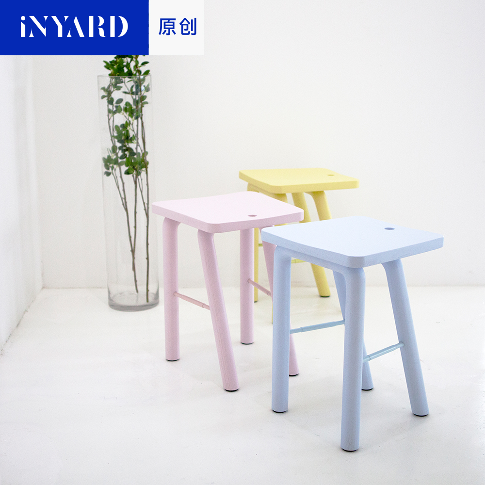 [InYard original] wood stool bench room Nordic simple fashion shoes stool color blue yellow design modern restaurant furniture excellent quality simple modern stools fashion fabric stool home sofa ottomans solid wood fine workmanship chair furniture