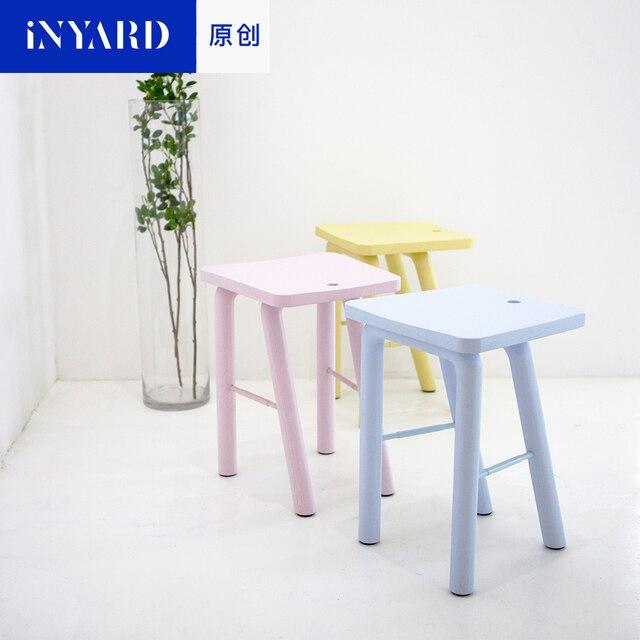 InYard original] madera taburete banco habitación Nordic simple moda ...