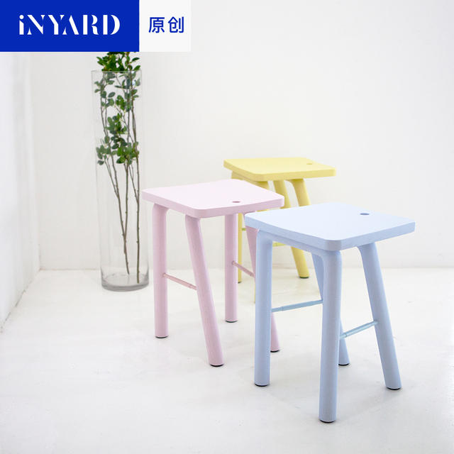 InYard original wood stool bench room Nordic simple fashion shoes