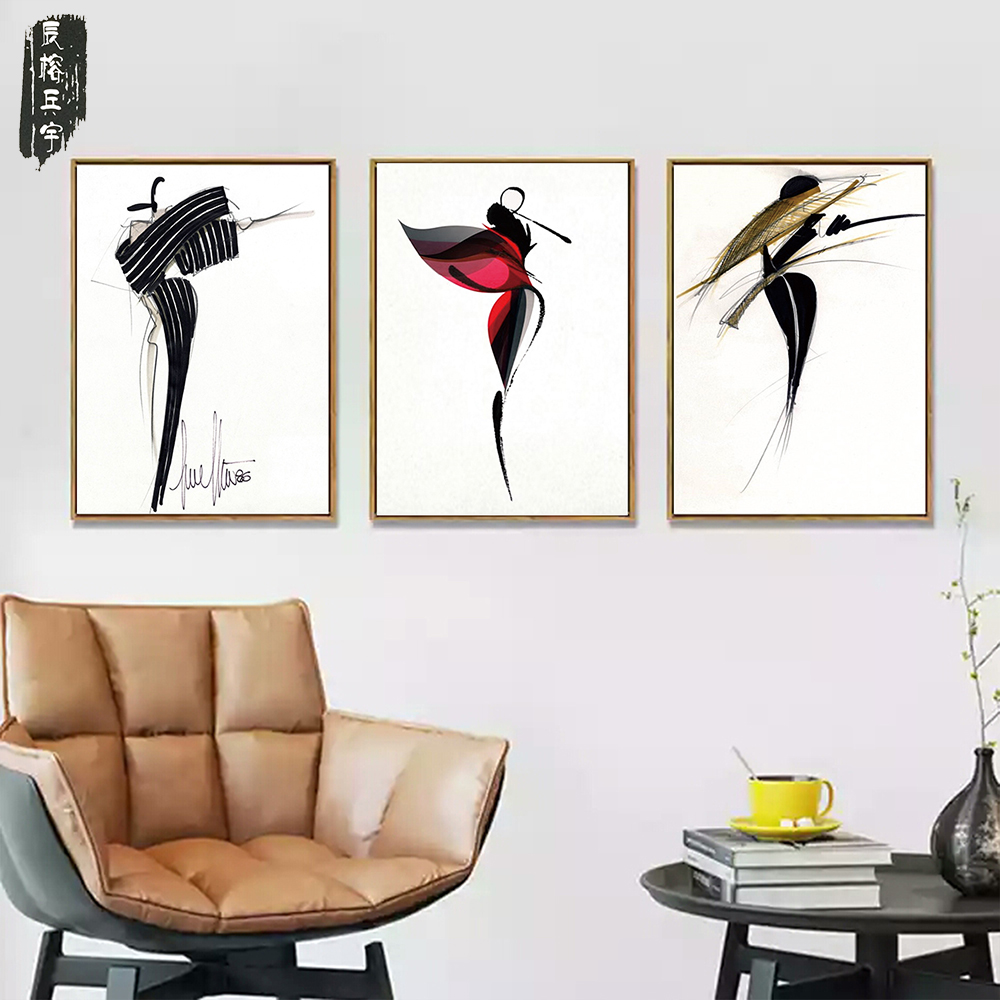 3PCS Watercolor Abstract figure nordic Poster canvas Wall Art Canvas Painting gold Picture for Living Room Home Decor Decoration