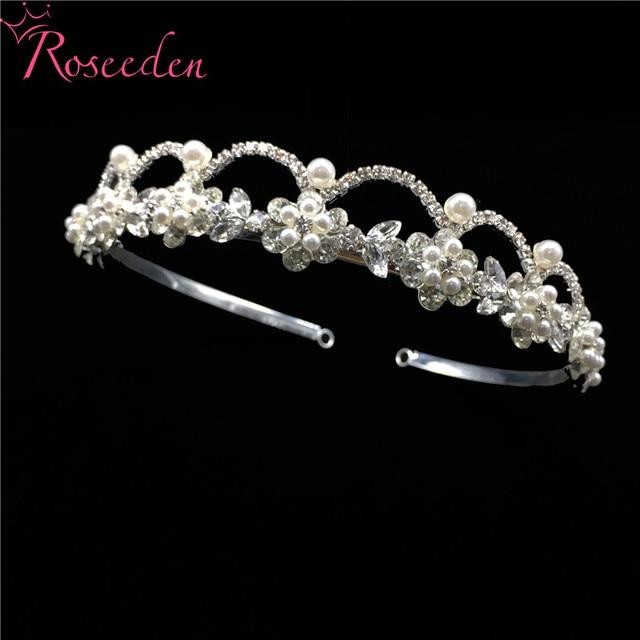 Романтические узорчатые Стразы свадебная диадема из кристаллов
