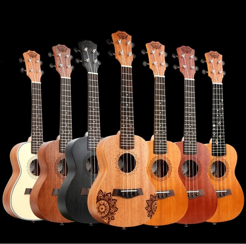 Ukulele Concert 23 Small Acoustic Guitar Mahogany Hawaiian Ukuleles Rosewood Musical Instruments String Guitar Music Instrument niko black 21 23 26 ukulele bag silver edge nylon soprano concert tenor soft case gig bag 5mm thick sponge