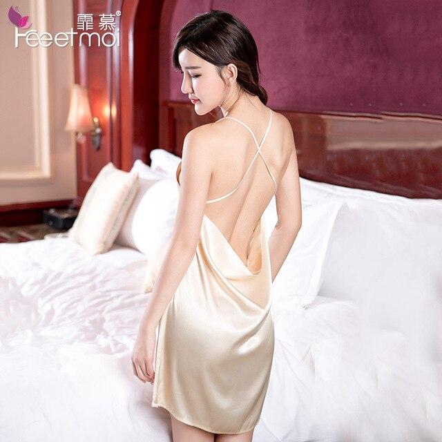 Порно шелк ночные рубашки