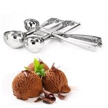 Хорошее качество, 1 шт., ложка для мороженого из нержавеющей стали, инструменты для кухонных гаджетов, пюре, ложка для кекса, Шариковая Мороженица B526